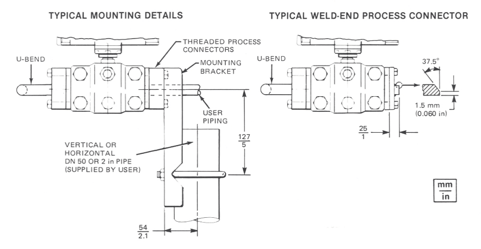 pass35a1cMounting Details Weld End Process Connector